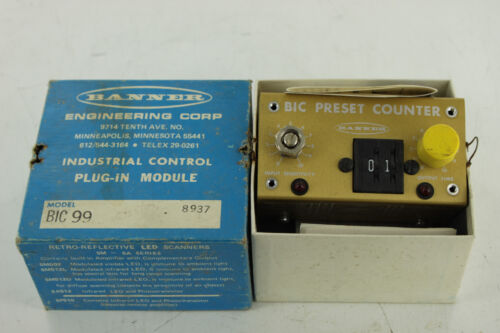 BANNER ENGINEERING BIC-99 BIC PRESET COUNTER