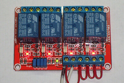 Usa 12 Vdc 10 Amp 4-channel High Low Level Input Relay Boards