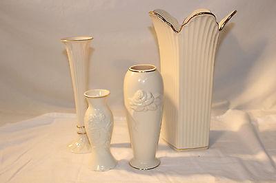 Lot of 4 Lenox Vases