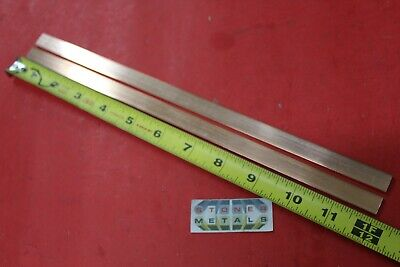 2 Pieces 18 X 12 C110 Copper Bar 12 Long Solid Flat Mill Bus Bar Stock H02