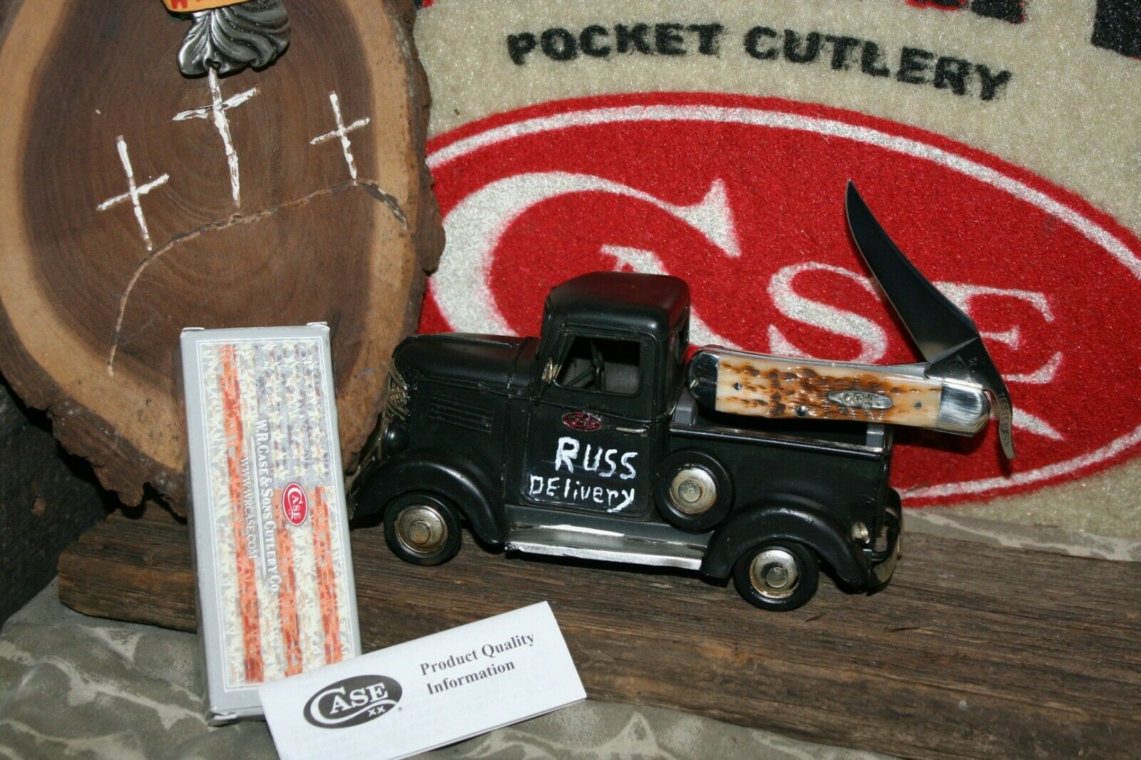 Awesome 2019 Case XX  Russlock Knife with Custom Truck Knife