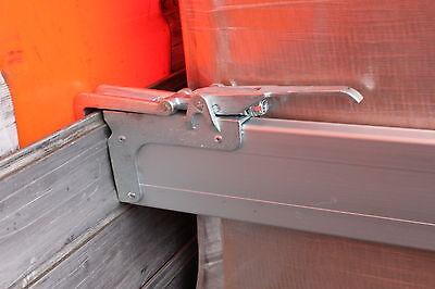 2xAlu Spannbrett Zwischenwandverschluss Klemmbrett, 1,50-1,80 m Ladungssicherung