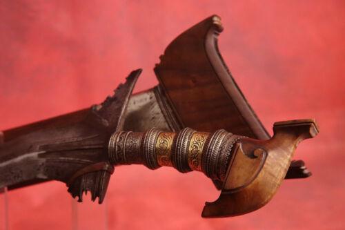 "Very Rare Hand Made Northern Borneo, Brunei Moro Kris Long Dagger 27½"", No Sword"
