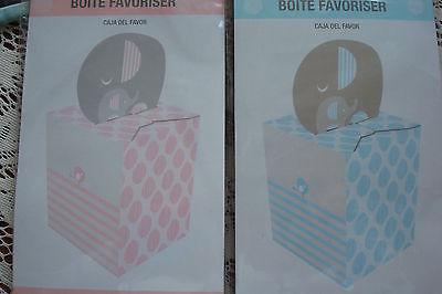 Little Peanut BOY Baby Shower Favor Boxes Wild Safari Pink 8 Pack BLUE FAVOR BOX](Wild Safari Blue Baby Shower)