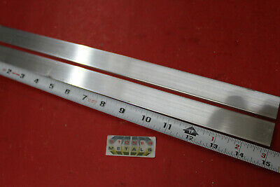 2 Pieces 14 X 1 Aluminum 6061 Flat Bar 15 Long T6511 Solid Mill Stock Plate