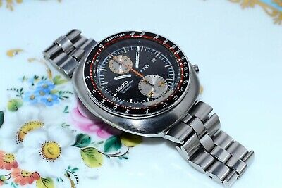 Rare Vintage Seiko 6138-0011 Ufo Day Date Chronograph Automatic S.Steel Watch