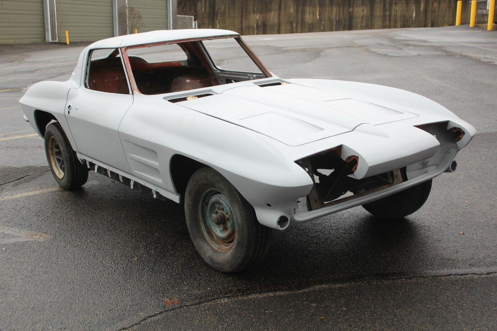 1963 Gray Primer Chevrolet Corvette   | C2 Corvette Photo 1