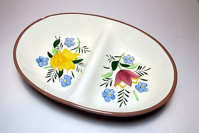 """STANGL """"COUNTRY GARDEN"""" DIVIDED SERVING BOWL (10 3/4"""" x 7 1/2"""")"""