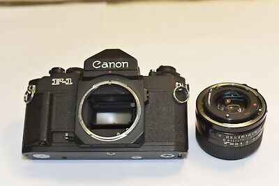 CANON F-1n  35mm FILM SLR CAMERA 50mm f1.4 Nice shape,  Tested