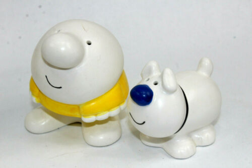 Ziggy & Fuzz Ceramic Salt & Pepper Shakers 1979 Universal Syndicated NEW NOS