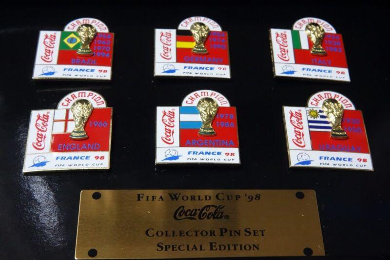 FIFA World Cup '98 France Coca Cola Collector PIN Set Special Edition
