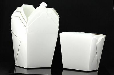 25x 32oz Chinese Take Out To Go Boxes Microwavable Gift Boxes White