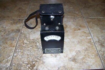 Vintage Alton Galvanometer Leather Case Equitable Powder Mfg Co.