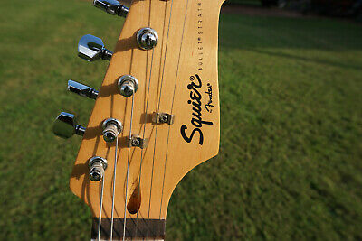 Used Squier Bullet Strat, early 2000's Great playing condition, recently set up.