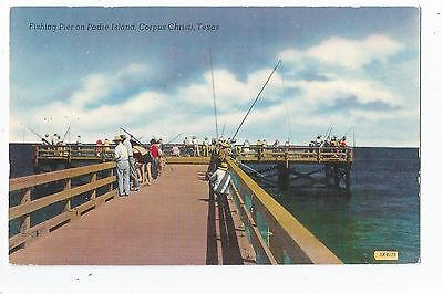 Corpus Christi TX Padre Island Fishing Pier Postcard (Padre Island Corpus Christi)