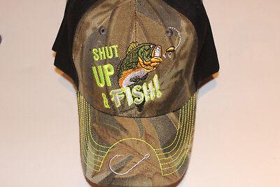 Anglerkappe Cap Kappe Mütze Camouflage Fishing Angler Mütze Angeln # 90