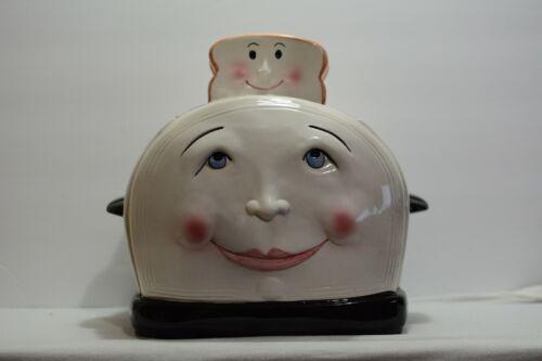 Vintage Clay Art Smiling Toaster Cookie Jar 1994