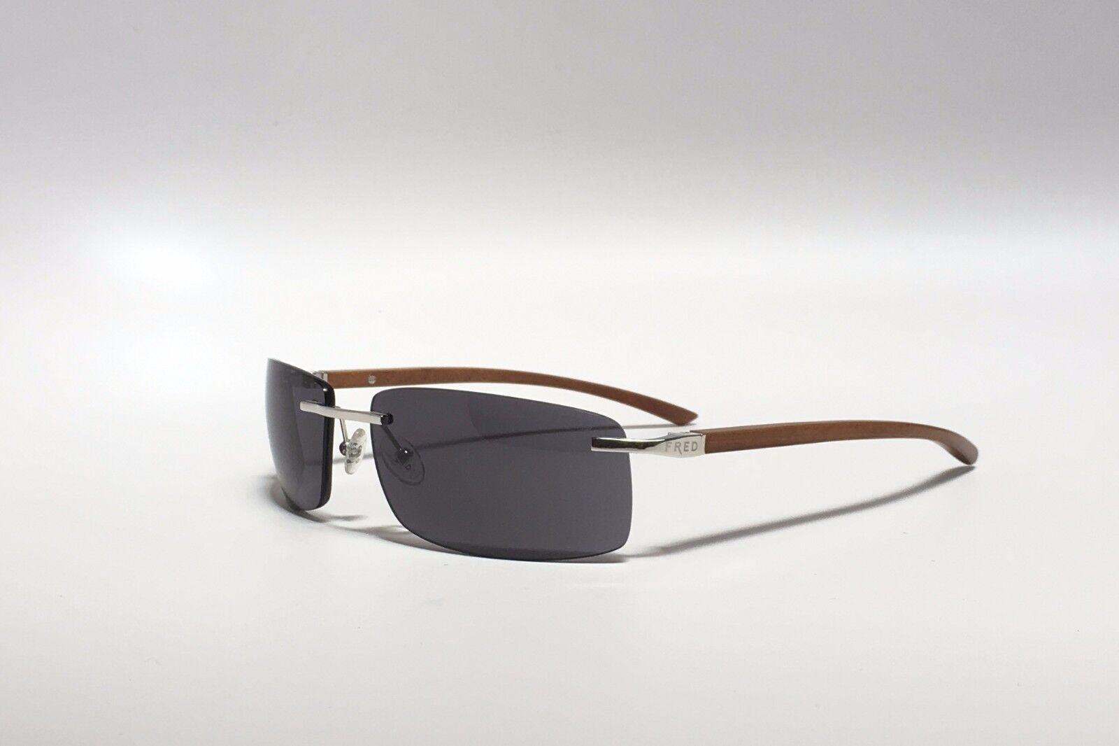 קנו אביזרים לגבר (משקפיים, חגורות ועוד)   FRED Lunettes Sunglasses ELLESMERE  SUN 112 F2 Mahogany Plat Hand Made In France c4ad77470763