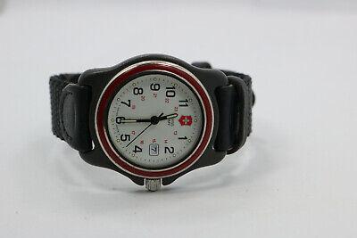 Ladies Victorinox Swiss Army White Dial Nylon Strap Day Watch New Battery