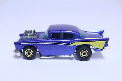 HOT WHEELS '57 CHEVY BEL AIR VERY NICE BLUE W/ GOLD HOT ONES
