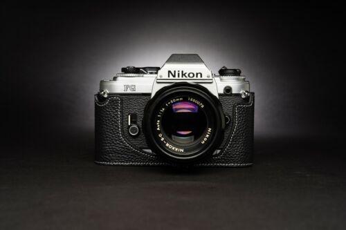 Genuine Real Leather Half Camera Case Bag Cover for Nikon FG FG20