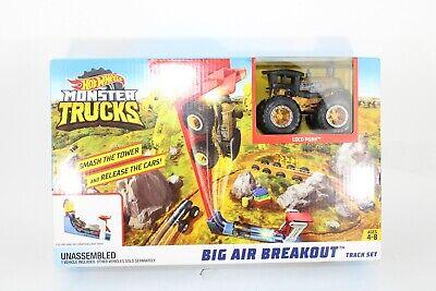 """""""NEW"""" Hot Wheels Monster Trucks Big Air Breakout Playset"""