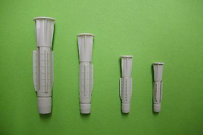 1 Stück Universaldübel Sortiment / Set  350 tlg. Kunststoff  5-10 mm mit Kragen
