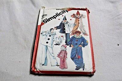 Simplicity Pattern 5740 Clowns Children 2 4 Uncut Cosplay Halloween 1982 Sewing - Halloween 2 1982