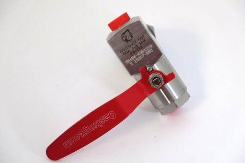 """Oasis 1/2"""" SS CNG cylinder valve"""