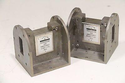 Lot of 2 Alcatel Ferrocom Waveguide 658 5885519K01 5.925-7.125 GHz 4 Tee Adapter