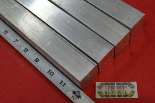 "4 Pieces 1-1/4""x 1-1/4"" SQUARE ALUMINUM 6061 SOLID BAR 12"" long T6511 Mill Stock"