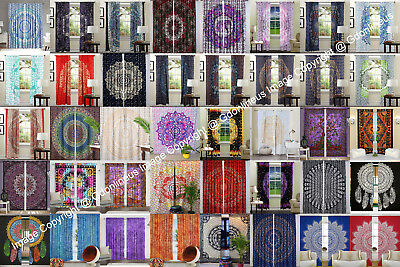 Indian Mandala Curtains Window Wall Drapes Panel Boho Hippie Tapestry Room - Curtains Decorations
