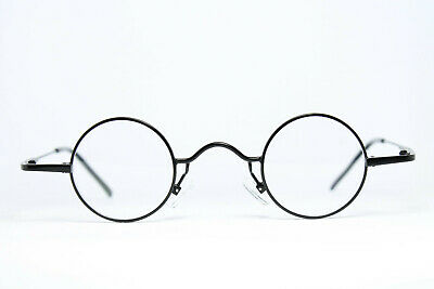 MEG Germany 16010R BLK 34-28 Brille Eyeglasses Gafas Bril Runde Kleine Gläser