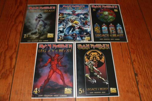 Iron Maiden Legacy of the Beast 1 2 3 4 5 Cover B Set Heavy Metal Comics NEW NM