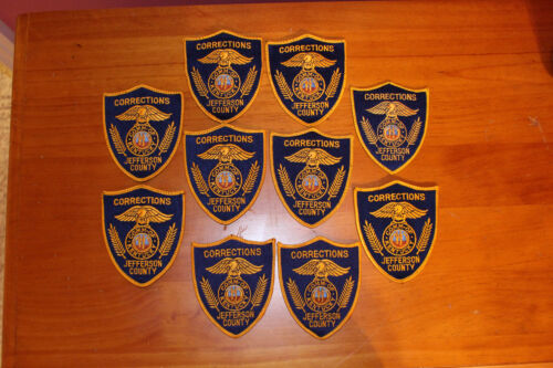 10 Used Old Old Style Jefferson County KY Corrections Patches