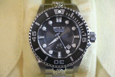Invicta Men's 47mm Grand Diver Automatic Gun Metal Grey Watch 24 Jewels