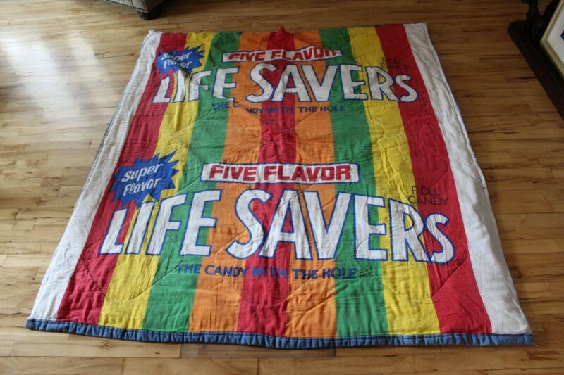 Vintage Life Savers Sleeping Bag Five Flavors Promotional Child Size GUC