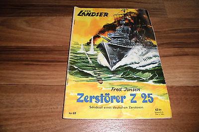 LANDSER # 69 -- ZERSTÖRER Z 25 // Original-Druck 1960er