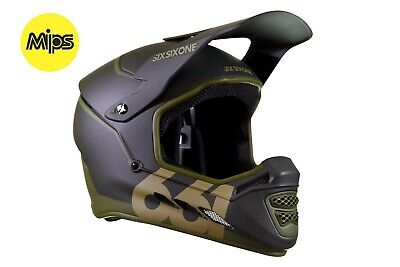SixSixOne 661 - Reset MIPS - Full Face MTB Bike / BMX Helmet Forest Green Large 661 Full Face Helmet