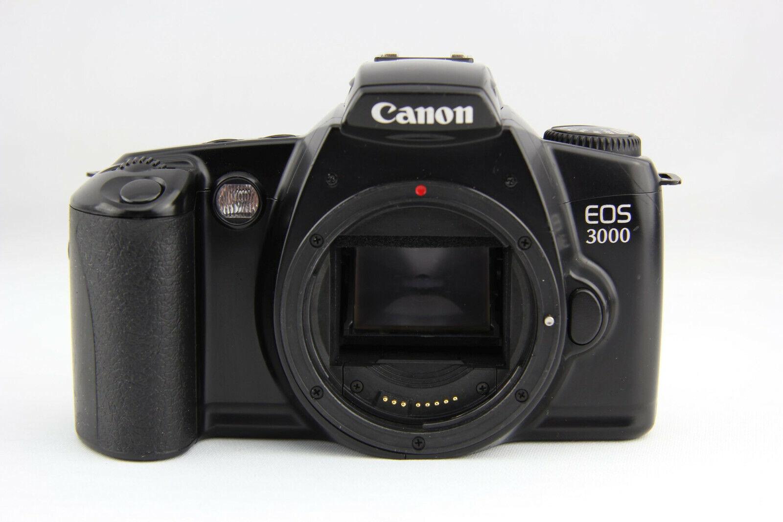 Canon EOS 3000 analoge Spiegelreflexkamera schwarz # 6821