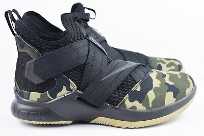 abfaff2f0901 Nike Lebron Soldier XII 12 SFG Mens Size 12.5 Basketball Shoes Camo AO4054  001