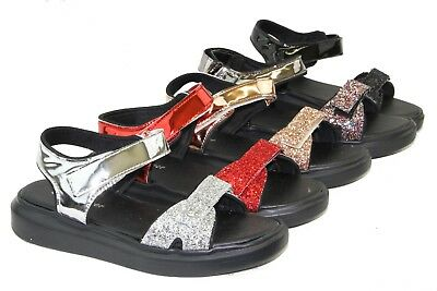 Walking Sandals - Women Comfortable Sport Sandals Walking Shoes Sequin Glitter Shiny Design