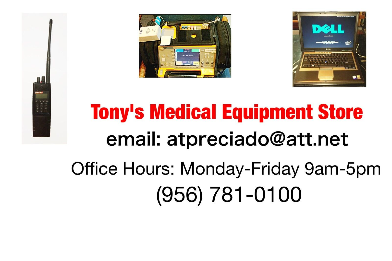 TONY'S  MEDICAL EQUIPMENT STORE