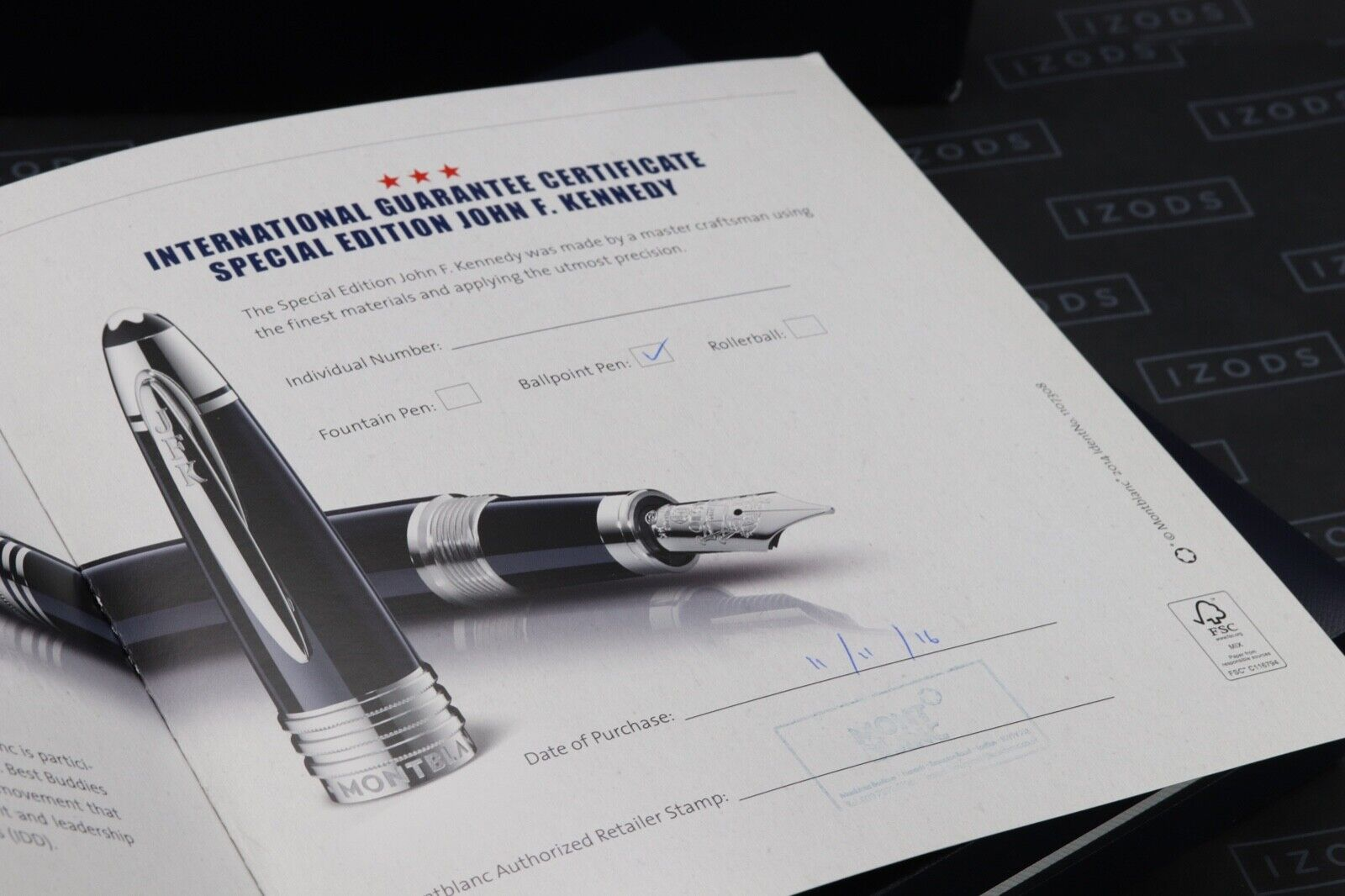 Montblanc Great Characters JFK Blue Special Edition Ballpoint Pen 5