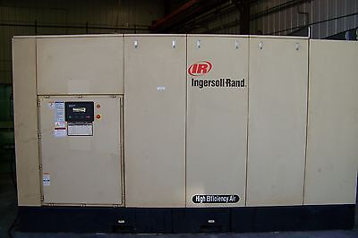 Ingersoll Rand 400hp. Two Stage 125 Psi Rotary Screw Air Compressor Warranty