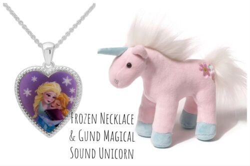 Frozen Elsa and Anna Necklace & Adorable Little Unicorn by G