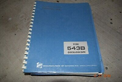 Htf Excellent Vintage Tektronix Type 543b Oscilloscope Instruction Manual