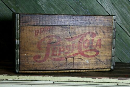 Vintage Pepsi Cola Soda Pop Wood Box Crate Large Size Old Man Cave Decor