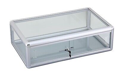 30 Aluminum Frame Glass Counter Top Display Case With Front Lock - F-1303