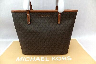 Michael Kors Genuine Large Leather Jet Set Travel Tote Bag BNWT Brown